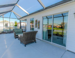 Brand New, Designer Decorated 2 Bed/2 bath/ 2 car garage Patio Villa for rent. All brand new furniture and mattresses from Ashley, near pool and golf. The Villages Florida